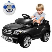Globe House Products Globe House Products Ghp Black Mercedes Benz Ml350 6v Plastic Remote Controlled Kids Ride On Toy Car