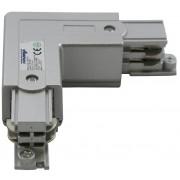 Haakse hoek verbinding voor een spanningsrail aluminium 169-017