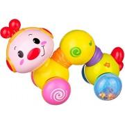 Krivan Electric Educational Musical Inchworm with Light Twist Press & Go Inchworm Developmental Baby Toys (Multicolor) (Multicolor)