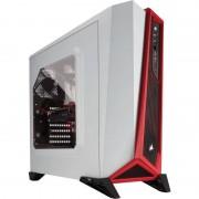Carcasa Carbide SPEC-ALPHA, MiddleTower, Fara sursa, Alb/Rosu