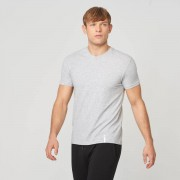 Myprotein T-Shirt V-Neck Luxe Classic - L - Grey Marl