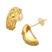 24K/18K キルティング スタイル イヤリング/ピアス【QVC】40代・50代レディースファッション