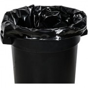 90 Pieces Black Disposable Garbage Bags / Dust Bin Bags (19X21 Inch)