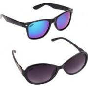 Criba Cat-eye, Wayfarer Sunglasses(Violet, Blue)