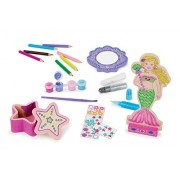 Melissa & Doug Decorate-Your-Own Wooden Mermaid Doll Craft Kit