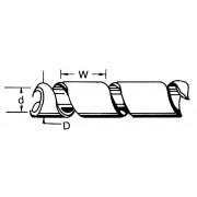 Fixapart Kabelslang 60 mm 10.0 m Transparant