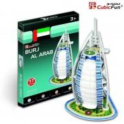 Puzzle 3D Cubic Fun - United Arab Emirates: Burj Al Arab, 17 piese (Cubic-Fun-S3007H)