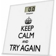 Cantar de persoane din sticla Keep Calm and Try Again Display LCD maxima de cantarire 150 kg Beper 40.821
