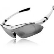 Abqa Sports, Cat-eye, Shield, Wrap-around Sunglasses(Grey)