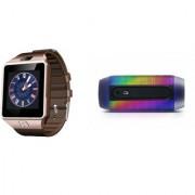 Zemini DZ09 Smart Watch and Pulse 2 Bluetooth Speaker for LG OPTIMUS G PRO(DZ09 Smart Watch With 4G Sim Card Memory Card  Pulse 2 Bluetooth Speaker)