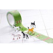 "Adhesive Game Tape ""My First Horse Show"" Jumping Course Tape, 27 Yards Roll with Mini Horses, Kids Gift Box by Donkey"