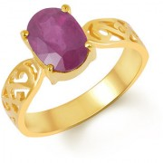 Kundali Ruby Manik Pink Coloured Original Stone with Premium Quality 18kt Gold Gemstone Ring and Certificate