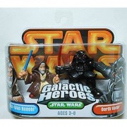 Star Wars Galactic Heroes Obi-Wan Kenobi and Darth Vader with Red Lightsaber 2 Figures in Package