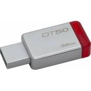 USB Flash Drive Kingston 32GB DataTraveler 50 USB 3.1 Metal-Rosu