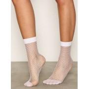 Topshop Fishnet Ankle Socks Strumpor White