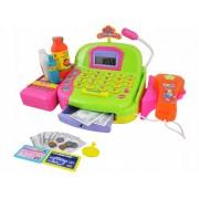Set Jucarie Copii Casa de Marcat cu Afisaj LCD pentru Supermarket + Scanner si Alte Accesorii