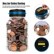 AOZBZ Digital Counting Coin Saving Pot Counting Led Showing Money Jar Cash Piggy Bank Creative Large Saving Coin Box for Children Toys Gifts Home decoration