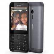 TELEFONO MOVIL NOKIA 230 DARK SILVER - DISPLAY 2.8'/7.12CM - CAMARA VGA - DUAL SIM - SLOT MICROSD (HASTA 32GB) - RADIO FM - BT - BATERIA 1200mAh