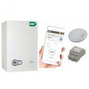 Centrala termica Ferroli BLUEHELIX TECH 35C-E 35 kW cu termostat Ferroli Ecosmart WIFI. 5 ani garantie