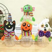 KMKBJ Decoraciones de Halloween Cubo de Calabaza Tarro de Caramelo Transparente Gato Negro Calabaza niños Tarro de Regalo Adornos de Halloween Adornos ( Size : Zombie )