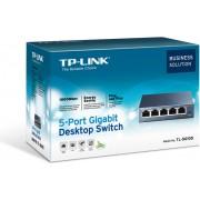 TP-Link TL-SG105, 5-Port 10 100 1000Mbps Desktop Switch, Steel housing, desktop or wall-mounting design