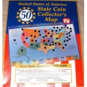 United States of America State Coin Collectors Map