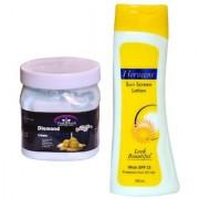 Florozone Sun Screen Lotion With SPF 25 Pink Root Diamond Cream 500ml