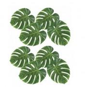 Geen 8x Decoratie tropische bladeren