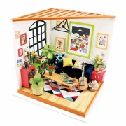 Robotime DG106 Doll House Miniature Furniture Wooden DIY Dollhouse Toy Decor Craft Gift