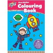 Prima carte de colorat cu abtibilduri Early Activities Galt