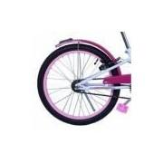 Bicicleta Feminina Aro 20 Fashion com Cestinha Branco e Rosa