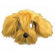 Geen Lichtbruine hond masker met vacht
