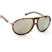 Guess Aviator Sunglasses(Blue, Golden)