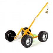 DIY hecho a mano gran rueda de la gravedad rompecabezas montado modelo de coche de juguete - negro