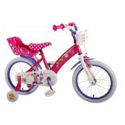 """Bicicleta pentru fete ajustabila din otel cu roti ajutatoare 16"""" EandL CYCLES Minnie Mouse"""