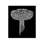 Plafoniera Diamant Crystal Twister,6 becuri dulie E27, 230V,D.48cm, H.49 cm,Nichel