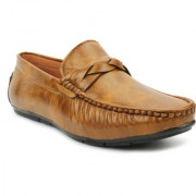 LEE DONNIE Men's Casual Loafer Party wear Driving shoes Brown
