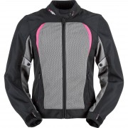Furygan Motorrad-Jacke Motorrad Schutz-Jacke Furygan Genesis Mistral Evo Damen Textiljacke schwarz/grau/v violett