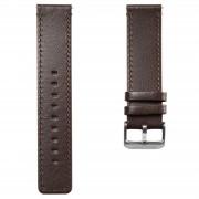 Lucleon Braunes Leder Uhrenarmband Mit Grauer Schließe
