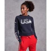 Superdry Gym Tech USA kort rundhalsad sweatshirt