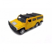 Emob Yellow 132 Die Cast Metal Pull Back Luxury Model Car Toy with Light and Sound Features (Multicolor)
