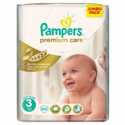 Pampers - Scutece Premium Care 3 Midi Jumbo Pack 80 buc