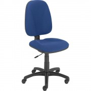 Bürodrehstuhl JUPITER Permanentkontakt-Mechanik Bezugsfarbe blau