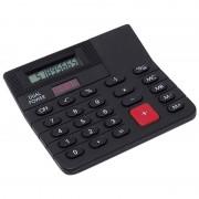 Bellatio Design Basic rekenmachine/calculator zwart 12 cm