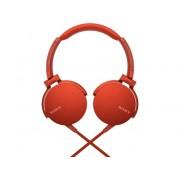 Sony Auriculares con cable SONY MDR-XB550AP (On ear - Micrófono - Atiende llamadas - Rojo)