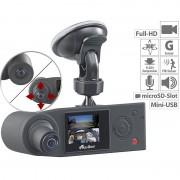 NavGear Full-HD-Dashcam mit 2 Kameras für 360°-Panorama-Sicht, G-Sensor
