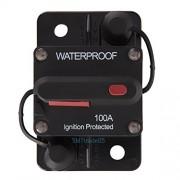 Alcoa Prime Waterproof 100 Amp Manual Reset Circuit Breaker 12v/24v Car Audio Marine Ships