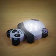 Elemes nyomógombos éjszakai gyerek lámpa panda 10 cm