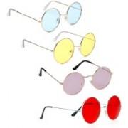 Phenomenal Round Sunglasses(Blue, Yellow, Pink, Red)