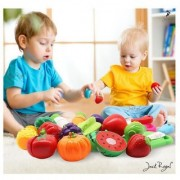 Stylo Vegetable Fruit Cutting Simulation Pretend and Play Toy Set